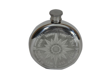 Compass Flask Pewter 6 oz