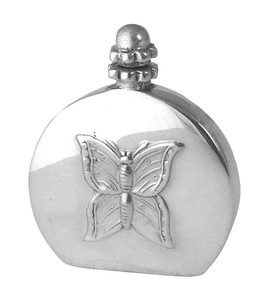 PERFUME BOTTLE MINI WITH BUTTERFLY ENGLISH STERLING SILVER