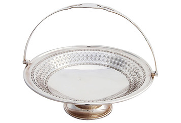 English Round Pierced Basket, C. 1880