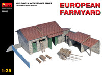 Miniart Models European Farmyard Building, Storage Shed & Accessories