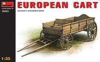 Miniart Models European Cart Wooden Type