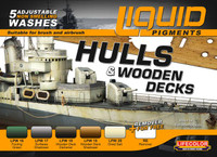 Lifecolor Hulls & Wooden Decks Ship Weathering Liquid Pigments Set