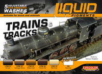 Lifecolor Trains & Tracks Railway Weathering Liquid Pigments Set