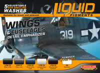Lifecolor Wings & Fuselages Aircraft Weathering Liquid Pigments Set