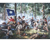 The Art of Don Troiani - Cleburne at Chickamauga, 2nd Tennessee Regiment