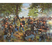 The Art of Don Troiani - The Black Hats, 19th Indiana Regiment, Iron Brigade at Gettysburg, July 1, 1863