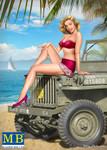 Masterbox Models - Samantha Pin-Up Girl Sitting w/Hand on Knee