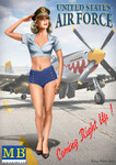 Masterbox Models - Patty USAF Pin-Up Girl Standing Saluting