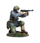 Wm. Britain German Volksgrenadier Kneeling Firing MP-40 in Parka