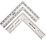 "Zona Tools - 3"" x 4"" Stainless Steel L-Square Ruler"