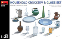 Miniart Models Household Crockery & Glass Set