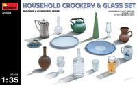 Miniart Models Household Crockery & Glass Set