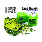 Green Stuff World Miniature Leaf Punch LIGHT GREEN - Oak Leaves