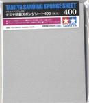 "Tamiya Models Sanding Sponge Sheet 5""x5.5"" (5mm thick) 400 Grit"