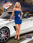 Masterbox Models Modern Pin-Up Girl wearing Mini Dress Posing w/Hand on Hip
