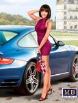 Masterbox Models Modern Pin-Up Girl wearing Mini Dress Posing w/Hand on Head