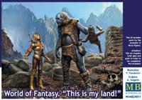 Master Box Models - World of Fantasy: Female Warrior & Giant Holding Gnome