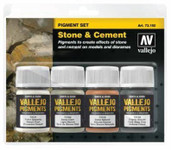 Vallejo Bottle Stone & Cement Pigment Powder Set