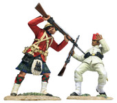 """Wm. Britain - """"Pressing Home with Steel"""" 42nd Highland Bayonetting Egyptian Infantry Casualty Falling"""