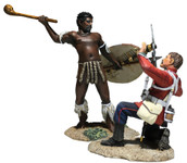 "Wm. Britain - ""Closing In"" British 24th Foot and Zulu Hand-to-Hand Set"