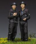 Alpine Miniatures - German Panzer Crew Set  - Early - SALE