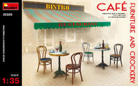 Miniart Models Café Furniture Tables & Chairs w/Accessories