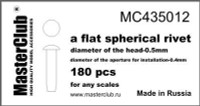 Masterclub Flat Spherical rivet, head 0.5mm aperture 0.4mm 200 pcs.