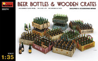 Miniart Models Beer Bottles & Wooden Crates