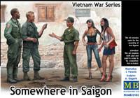 Masterbox Models - Somewhere in Saigon US Soldiers (2), Vietnamese Soldier & Prostitutes