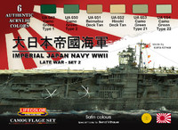 Lifecolor - Imperial Japan Navy WWII Set #2 Acrylic Set