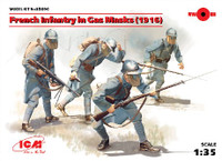ICM Models - French Infantry in Gas Masks 1916