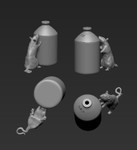Jon Smith Modellbau - Rats with British SRD Jars 1/16