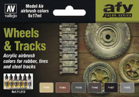 Vallejo Acrylic Paints -Wheels & Tracks Model Air Paint Set