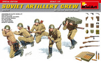 Miniart Models - WWII Soviet Artillery Crew w/Ammo Boxes & Weapons (Special Edition)