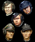 Alpine Miniatures - German Panzer Crew Head Set #1