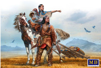 Masterbox Models - On the Great Plains Indian Family w/Horse & Accessories