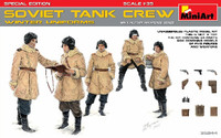 Miniart Models - WWII Soviet Tank Crew, Winter Uniforms w/Weapons (Special Edition)