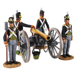 Wm. Britain - British Royal Artillery 9 Pound Gun and 4 Man Crew