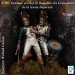 Alexandros Models - Tambour et Chef de Bataillon de la Garde Imperiale Waterloo