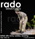 Rado Miniatures - British 8th Army Soldier, leaning