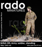 Rado Miniatures - British 8th Army Soldier, standing, Italy, 1943-45