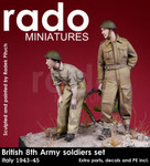 Rado Miniatures - British 8th Army soldiers (2), Italy, 1943-45