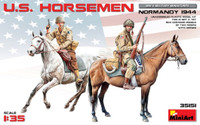Miniart Models - US Horsemen, Normandy, 1944 (2 Mtd)