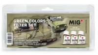 MiG Productions - Enamel Green Colors Filter Set