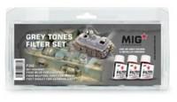 MiG Productions - Enamel Grey Tones Filter Set