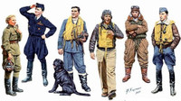 Masterbox Models - WWII Famous Pilots Set