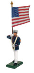 Wm. Britain - United States Marine Corps Standard bearer, U. S. Flag, Summer Dress