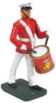 Wm. Britain - United States Marine Corps Side Drummer, Commandant's Own, Red Tunic