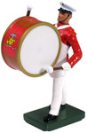 Wm. Britain - United States Marine Corps Bass Drummer, Commandant's Own, Red Tunic