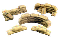 Wm. Britain - Mealie Bag Wall Curved and Short Straight Sections